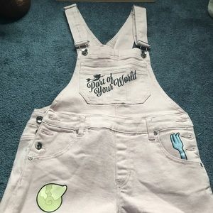 The little mermaid overalls